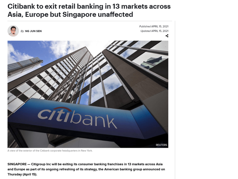 Screenshot_2021-04-16 Citibank to exit retail banking in 13 markets across Asia